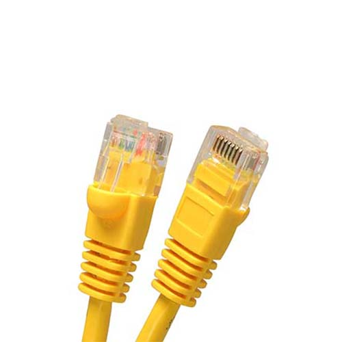 Wbox 1Ft. Cat5 Cable, Yellow - 6 Pack