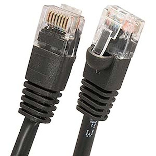 Wbox 1Ft. Cat6 Cable, Black - 6 Pack