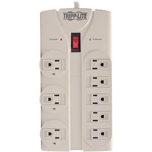Surge Protector, 8 Outlet, 1440 Joules, 8' Cord, Gray