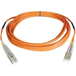 2M FIBER OPTIC LC/LC 62.5/125 PATCH CABLE DUPLEX MULTIMODE