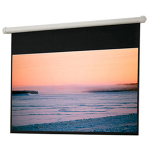 Salara Electric Hard-Wired Front Projection Screen - 72 x 96 - 120 Diagonal - Square Format - Matte White
