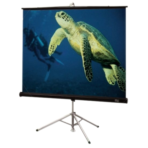 Diplomat/R Portable Tripod Projection Screen - 42.5 x 56.5 - 72 Diagonal - Video Format (4:3 Aspect) - Matte White with Black Plastisol Case