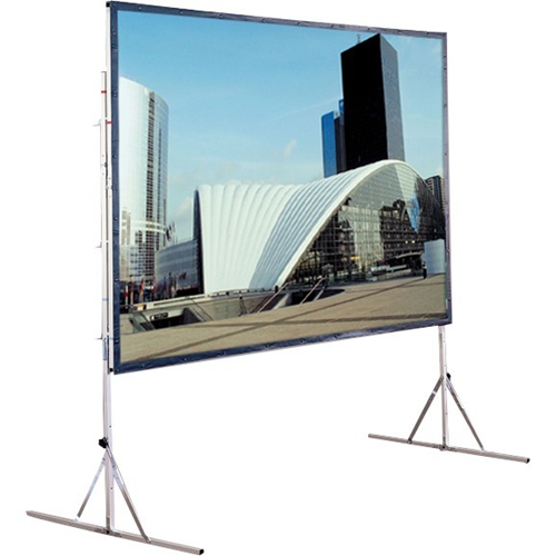 Cinefold Folding Portable Front Projection Screen with Standard Legs - 65 x 116 - 133 Diagonal - HDTV Format (16:9 Aspect) - Matte White
