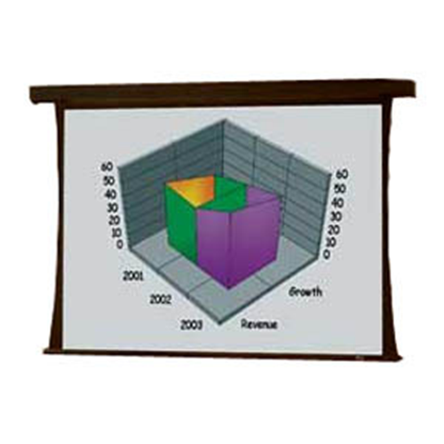Premier Motorized Projection Screen - Wall or Ceiling Mounted - Tab-Tensioned - 78 x 104 - 132 Diagonal - Video Format (4:3 Aspect) - M1300