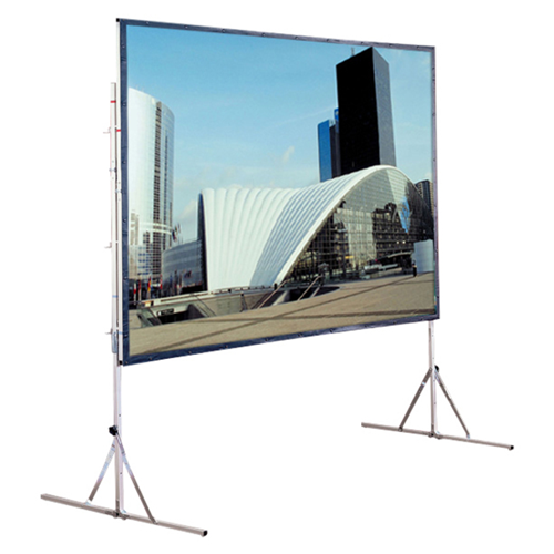 Cinefold Folding Portable Front Projection Screen with Standard Legs - 50 x 70 - 90 Diagonal - Video Format (4:3 Aspect) - Matte White