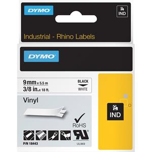 "Label, Vinyl, Industrial, 3/8""x18', White"