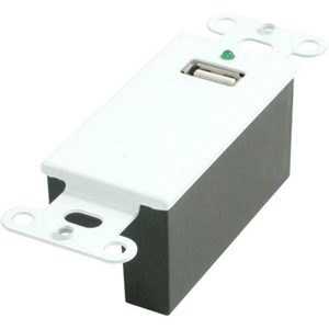 USB SUPERBOOSTER WALL PLATE DECORA STYLE WHITE