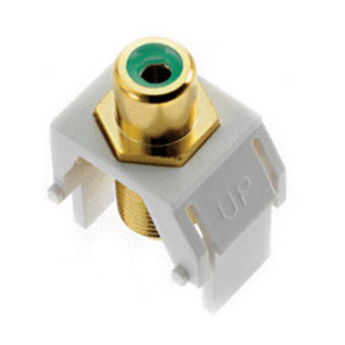 Legrand-On-Q Green RCA to F-Connector Keystone Insert, Black (M20)