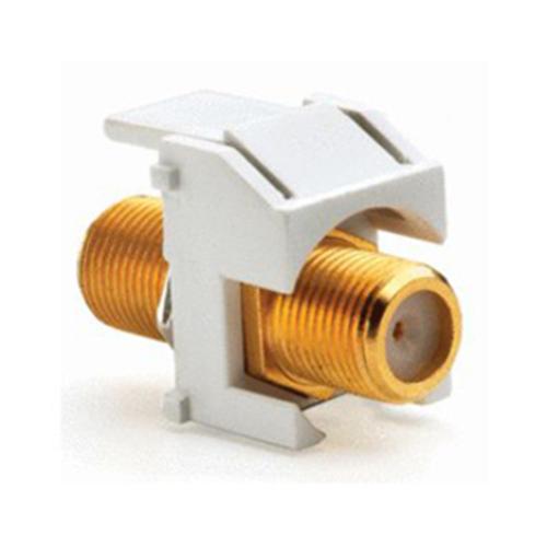 Legrand-On-Q Recessed Gold F-Connector, Black (M20)
