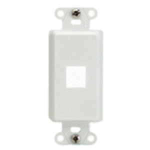 Legrand-On-Q 1-Port Decorator Outlet Strap, White