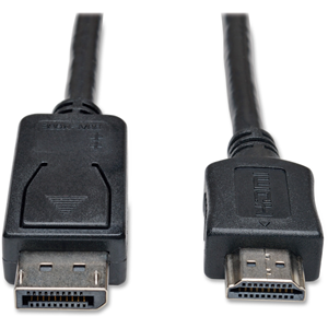 Displayport To HD Cable Adapter, 6FT, Black