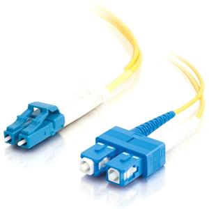 C2G-20m LC-SC 9/125 OS1 Duplex Singlemode Fiber Optic Cable (Plenum-Rated) - Yellow