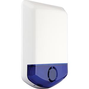 2 way wireless outdoor siren w/bluestrob