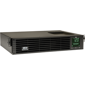 Line-interactive 2U rack / tower UPS offers protection from blackouts, brownouts, overvoltages, surges and line noise. Maintains sine wave AC output during blackouts and continuously corrects brownouts and overvoltages from 83 to 147 volts. Supports enhan