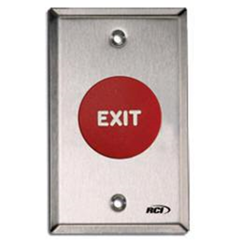 EXIT BUTTON 908 MO RED EXIT MB X 32D