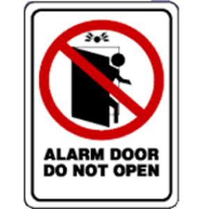 4 DOOR ALARM DECAL