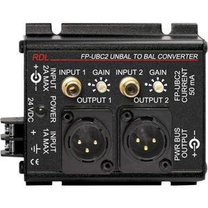 RDL FP-UBC2 Unbalanced to Balanced Converter - 2 Channel