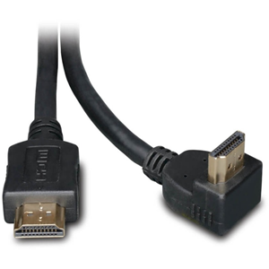 HDMI Gold Straight to Right-Angle Digital Video Cable