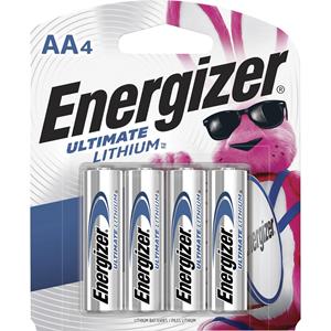 Lithium Batteries, AA, 4/PK, SRBE