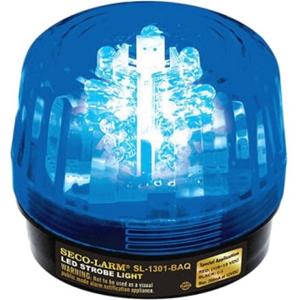 9-14VDC LED STROBE BLUE 6 FLASH PTRNS W/ADJ SPEED