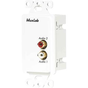 MuxLab Stereo Hi-Fi Wall Balun, US