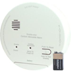 SMOKE/CO ALRM W/RELAY 120 VAC/9VDC