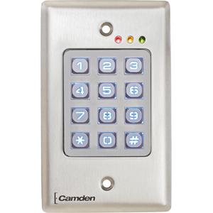 Camden OutDoor, Vandal Resistant, Metal Backlit Keypad, 999 Users, 12/24V AC/DC