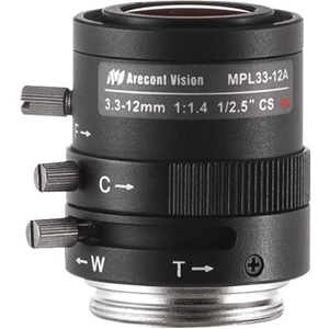 Arecont Vision - 3.30 mm to 12 mm - f/1.4 - Zoom Lens for CS Mount