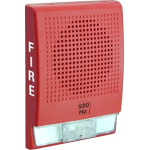 Edwards Signaling Low Frequency 520 Hz Horn, Red, FIRE Markings