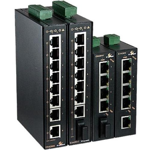 EtherWAN Hardened Unmanaged 5-port 10/100/1000BASE-T Gigabit Ethernet Switch