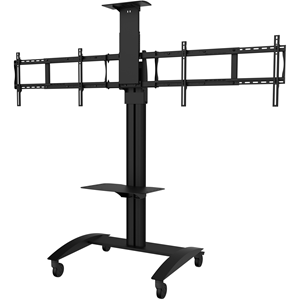 VIDEO CONF CART FOR TWO 40-55IN DISPLAYS - VERSION B