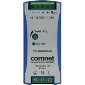 48VDC 60WATT (1.25A) DIN RAIL HIGH TEMP POWER SUPP