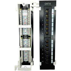 CAT6 PATCH PANEL 12 PORT VERT