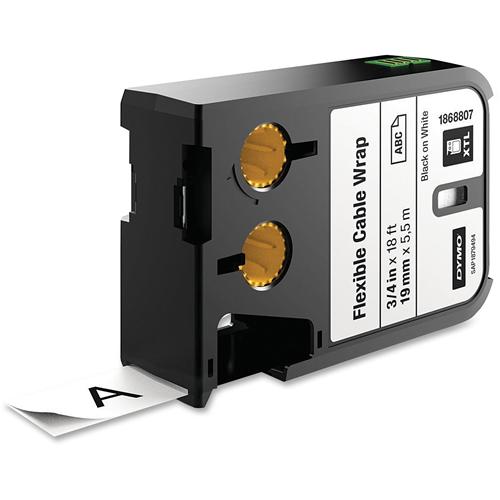"XTL Flexible Cable Wrap Cartridge, 3/4""x18', BKWE"