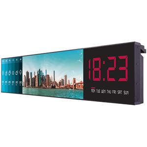 "FACTORY DIRECT ITEM ONLY 86"" 3840 x 600 (UHD) - Black. 86"" UHD Ultra Stretch, 500 nit, 3 HDMI, 1 DP, 1 DVI, 1 RS232, 1 RJ-45, 1 USB 3.0, 1 USB 2.0, ,1 IR Reciever, Landscape& Portrait."