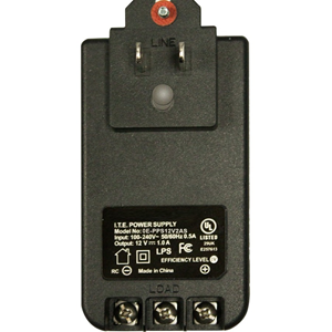 12VDC 2 AMP PLUG-IN POWER SUPPLY W/ SCREW TERMINLS