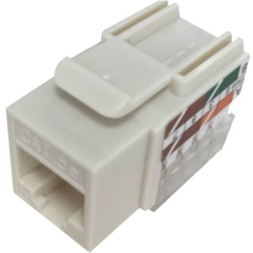 W Box Cat 5E Keystone Jack Vertical 8P8C, RJ45 Ivory