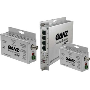 FOUR-CH ETHERNET OVER COAX W/PASS-THROUGH POE 15W