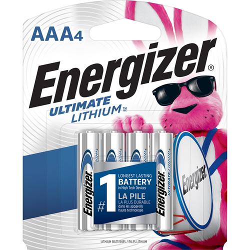 Lithium Batteries, AAA, 4/PK, SRBE