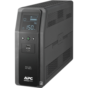Back UPS PRO BR 1500VA, SineWave, 10 Outlets, 2 USB Charging Ports, AVR, LCD interface
