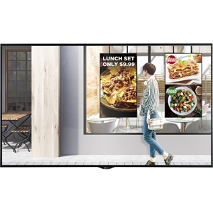 """57 pound / 7 x 47 x 30 inch 49"""" IPS, 1920 x 1080(FHD), 2500cd/m2, Viewing Angle(178 x 178), Dynamic CR 500,000:1, 9ms (G to G), Vesa Standard Mount Interface 600 x 400, 50,000 hrs Life Time, Portrait & Landscape, Source Selection (HDMI1, DVI-D, Display"