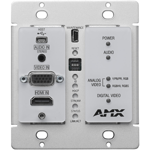 N2300 Srs 4K UHD Video Over IP Decor Style Wallplate Encoder w/KVM PoE