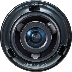 "1/2.8"" 2M CMOS with a 2.8mm fixed focal lens, FoV: H: 107.4?, V: 62.2"
