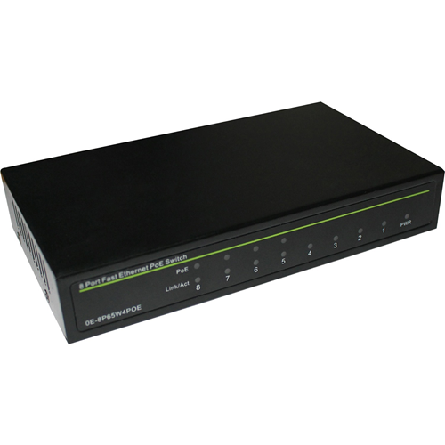 W Box 8 Port Fast Ethernet PoE Switch