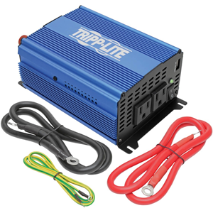 1000W Light-Duty Compact Power Inverter with 2 AC/1 USB - 2.0A/Battery Cables, Mobile