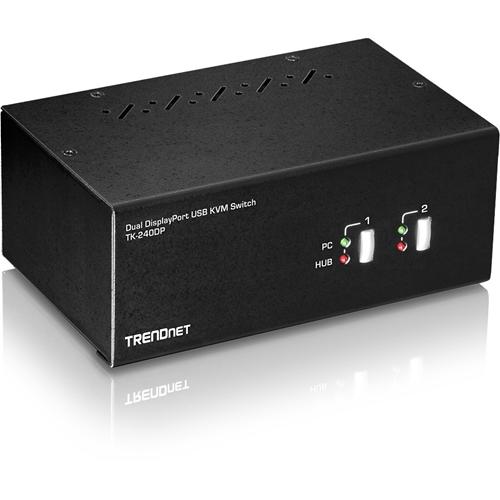 2-Port Dual Monitor DisplayPort KVM Switch
