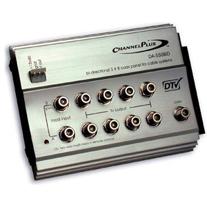 Channel Plus DA-550BID RF Distribution Amplifier with 12V IR