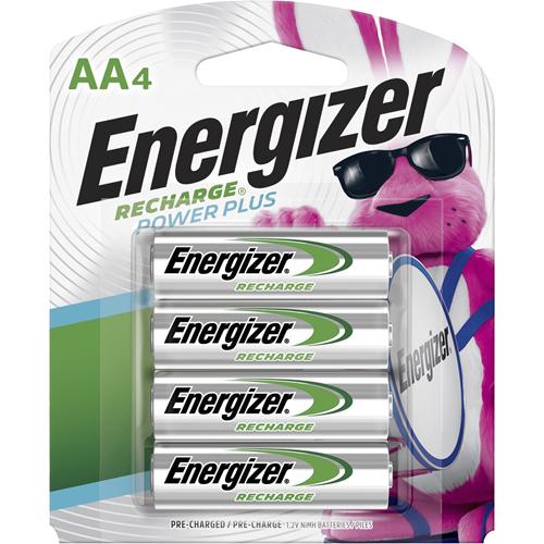 Rechargeable AA Batteries, NiMH, 4/PK, MI