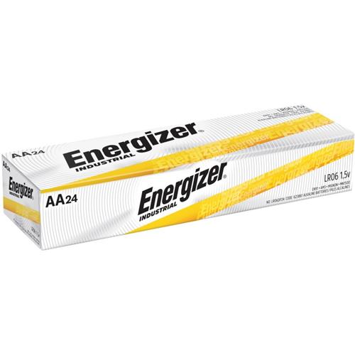 Energizer Industrial Alkaline Battery, AA, 24/BX