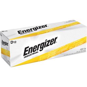 Energizer Industrial Alkaline Battery, D, 12/BX
